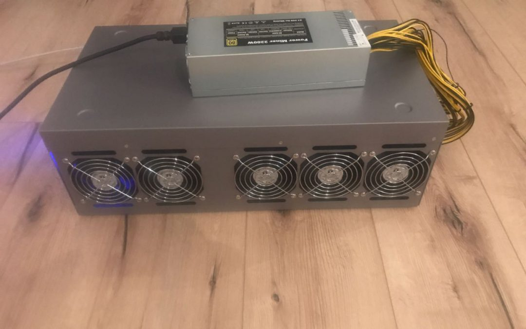 Hochleistungs GPU Mining Rig 9x P-104 im Test